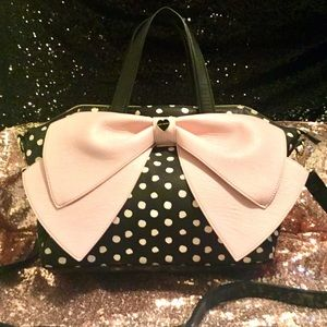 EUC Like New Retired Betsey J Polkadot w/ Pink Bow